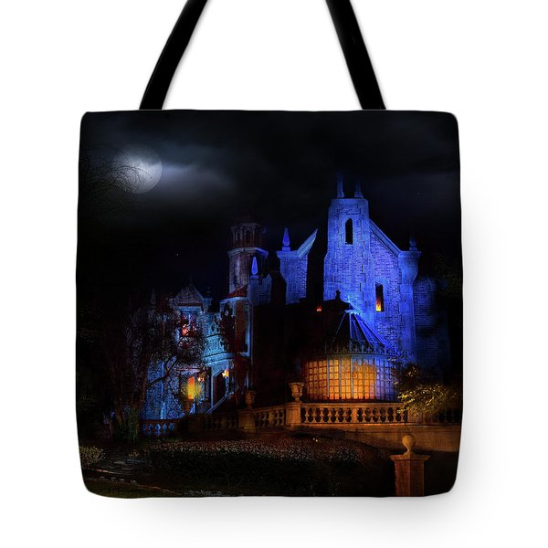 Haunted Mansion At Walt Disney World Tote Bag by Mark Andrew Thomas