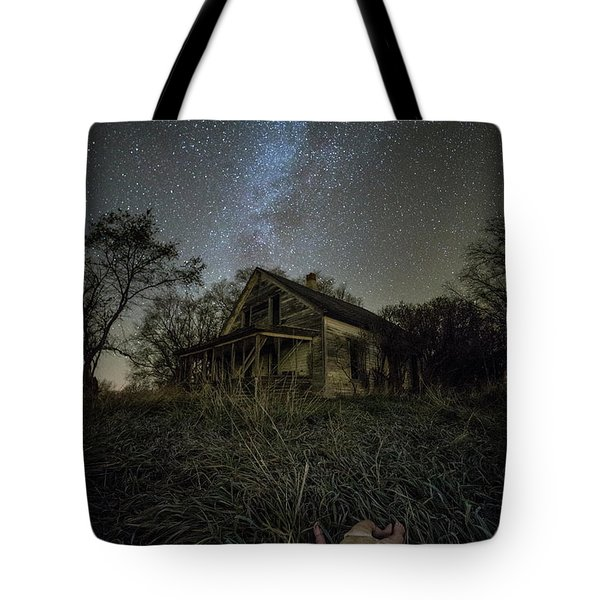Tote Bag featuring the photograph Haunted Memories by Aaron J Groen