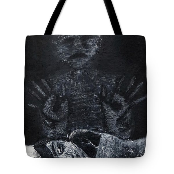 Tote Bag featuring the painting Haunted by Teresa Wing