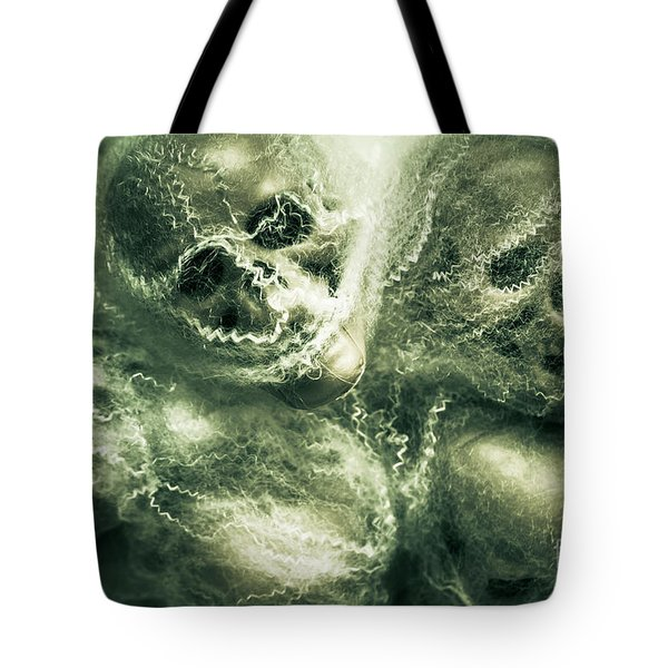 Haunted Undead Skeleton Heads Tote Bag