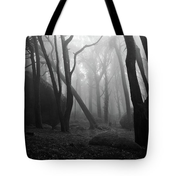 Haunted Woods Tote Bag by Jorge Maia