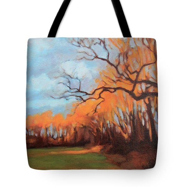 Tote Bag featuring the painting Haunting Glow by Andrew Danielsen