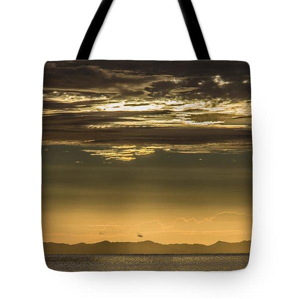 Hauraki Gulf At Sunrise Tote Bag