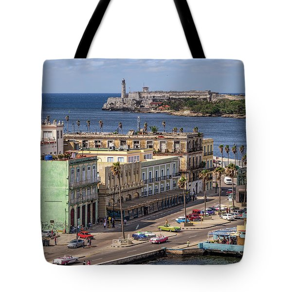 Tote Bag featuring the photograph Havana By The Port by Steven Sparks