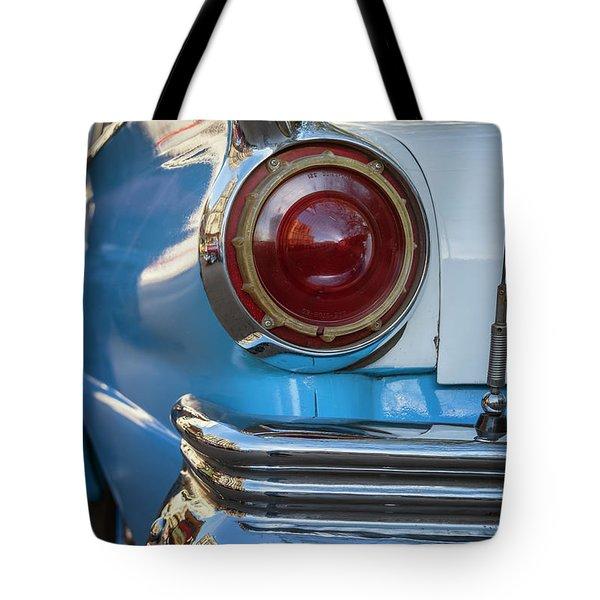 Tote Bag featuring the photograph Havana Cuba Vintage Car Tail Light by Joan Carroll