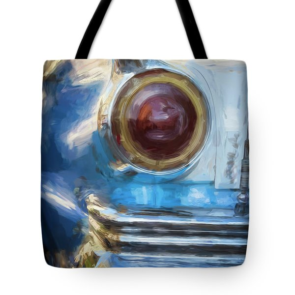 Tote Bag featuring the photograph Havana Cuba Vintage Car Tail Light Painterly by Joan Carroll