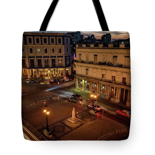 Tote Bag featuring the photograph Havana Nights by Joan Carroll
