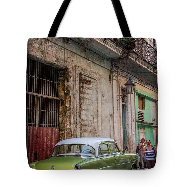 Havana Street Scene Tote Bag