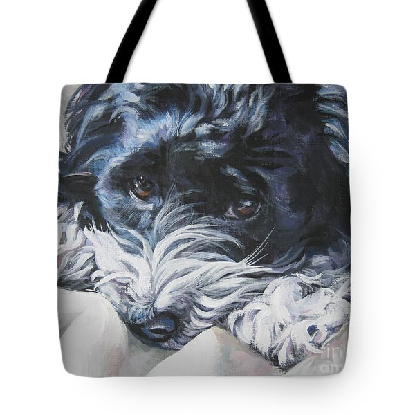 Havanese Black And White Tote Bag