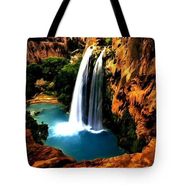 Havasu Waterfall Tote Bag