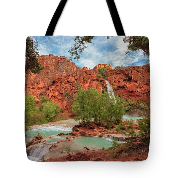 Havasupai Falls Pools Tote Bag