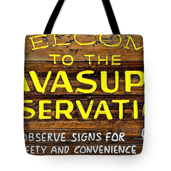 Havasupai Reservation Tote Bag by Joseph Hendrix