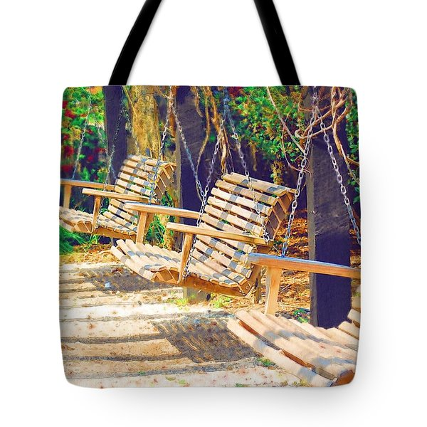 Tote Bag featuring the photograph Have A Seat Relax by Donna Bentley