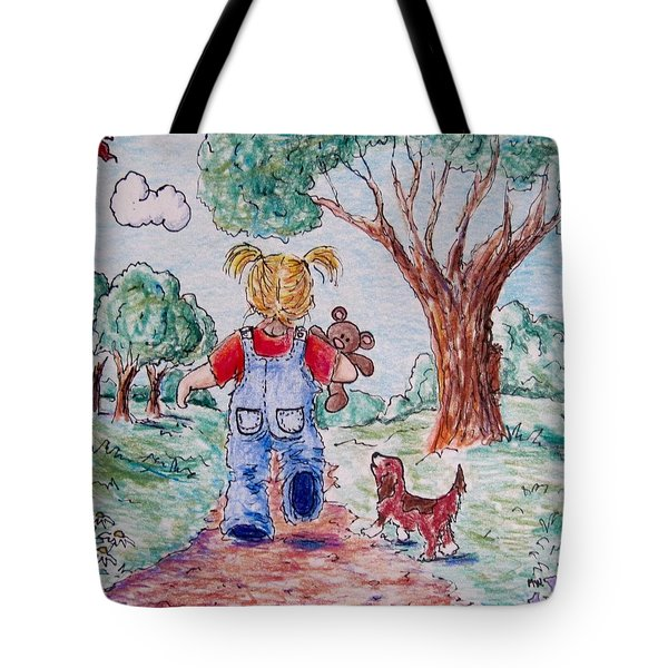 Have Bear, Will Travel Tote Bag by Megan Walsh