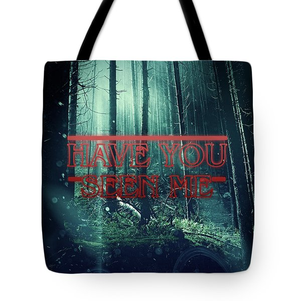 Tote Bag featuring the digital art Have You Seen Me by Mo T