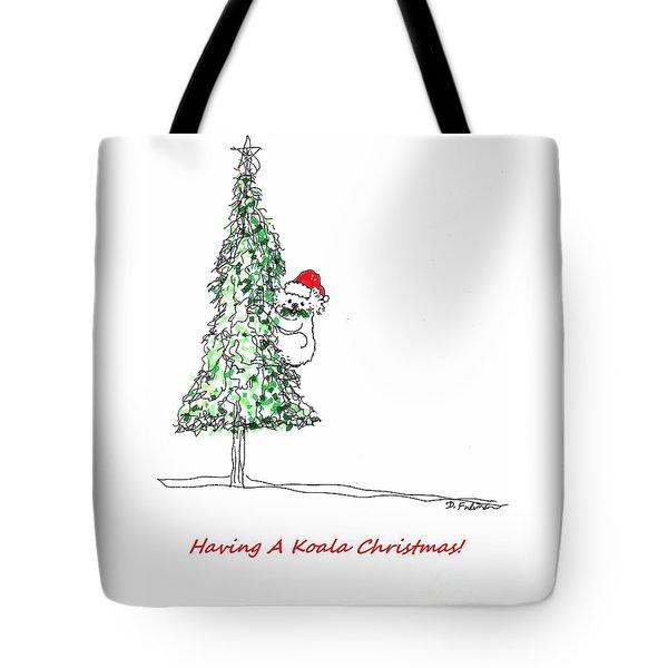 Having A Koala Christmas Tote Bag