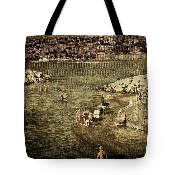 Having A Swim In Naples Tote Bag