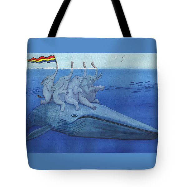 Having A Whale Of A Good Time Tote Bag