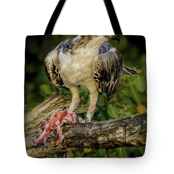 Having Dinner At Sunset Tote Bag
