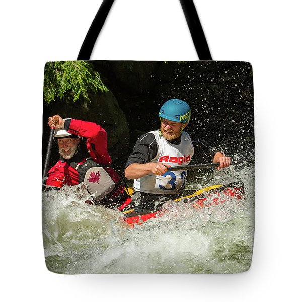 Having Fun In Whitewater Tote Bag