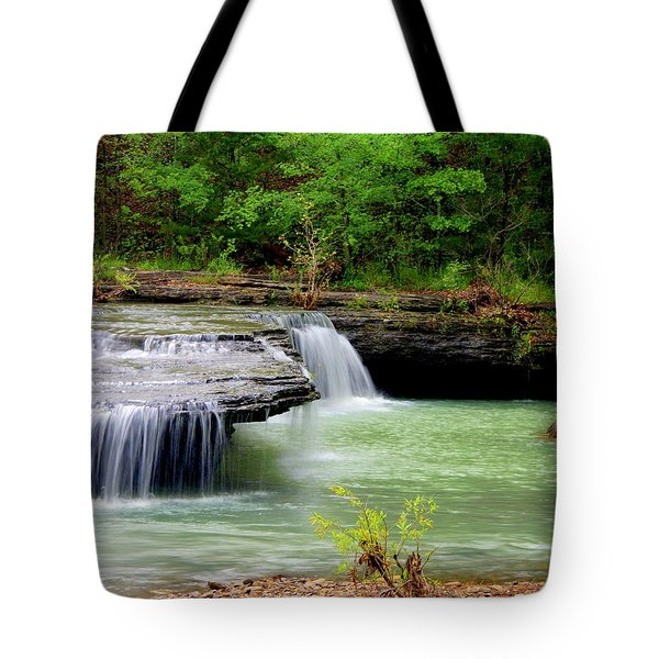 Haw Creek Falls Tote Bag by Marty Koch