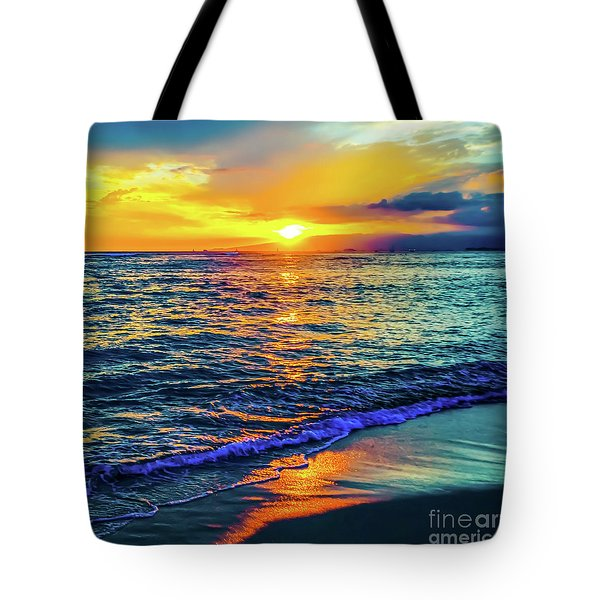 Hawaii Beach Sunset 149 Tote Bag