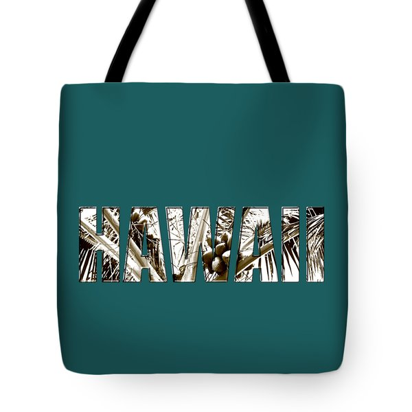 Tote Bag featuring the photograph Hawaii Coconut Palm Type by Kerri Ligatich
