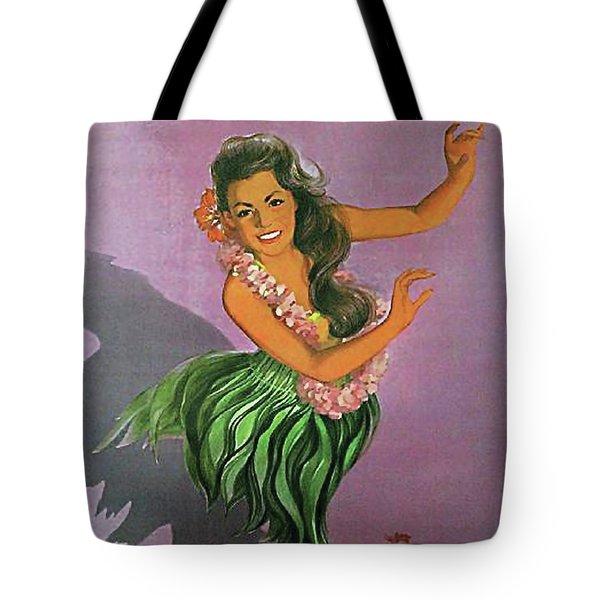 Hawaii, Dancing Hula Woman Tote Bag