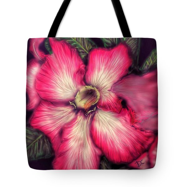 Tote Bag featuring the digital art Hawaii Flower by Darren Cannell