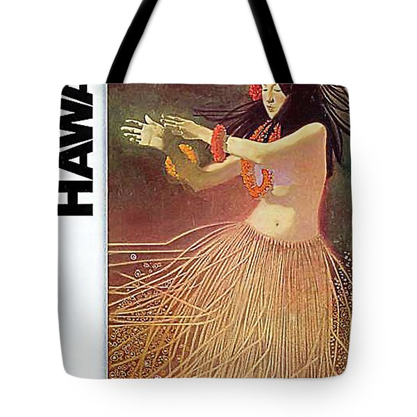Hawaii, Hula Girl Dancing At Full Moon Tote Bag