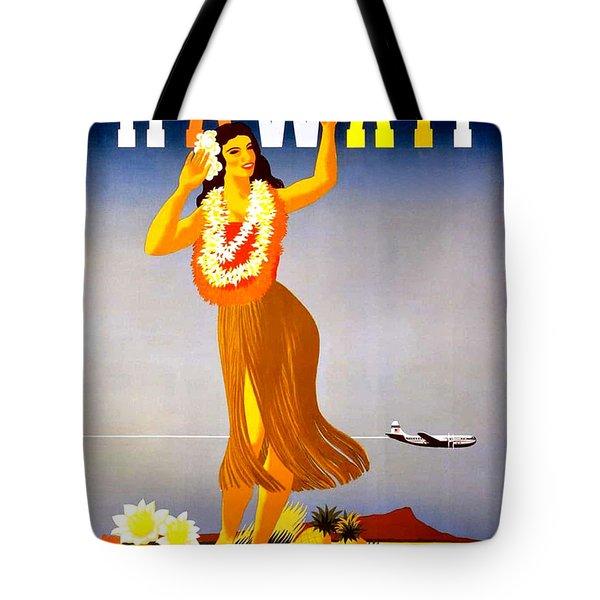 Hawaii, Hula Girl Welcome Tote Bag