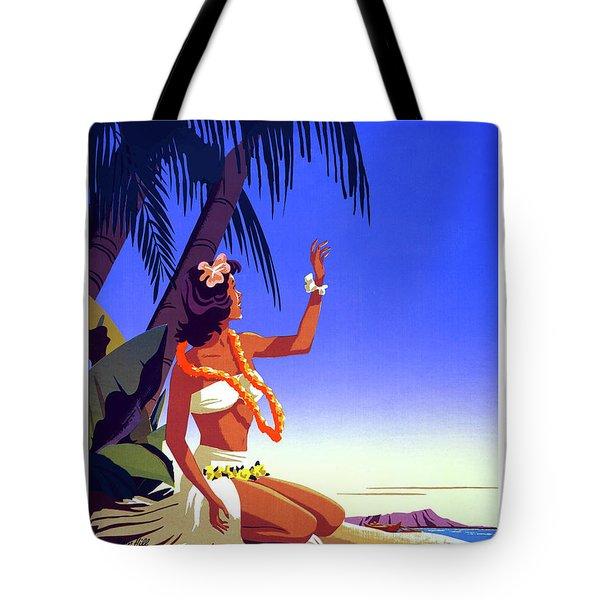 Hawaii, Hula Girl Welcome, Tropic Beach Tote Bag