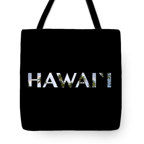 Hawaii Letter Art Tote Bag by Saya Studios