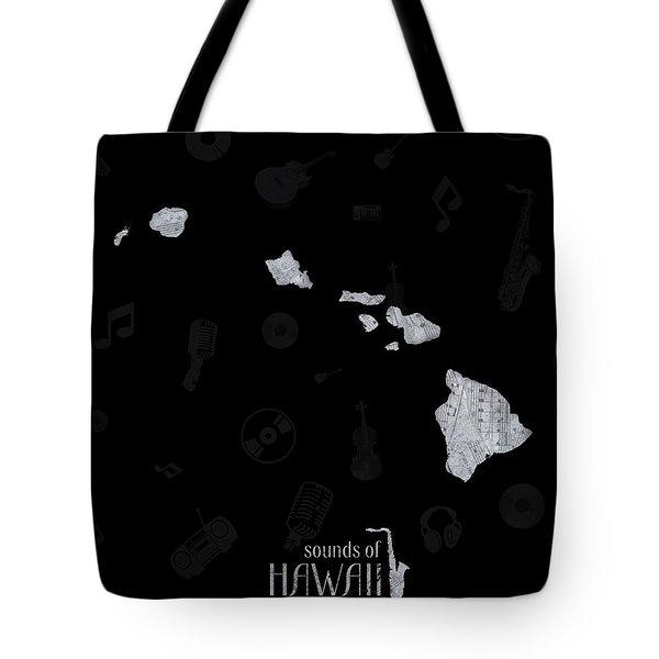 Hawaii Map Music Notes 2 Tote Bag