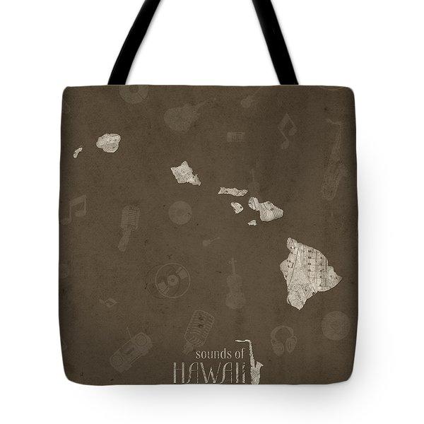 Hawaii Map Music Notes 3 Tote Bag