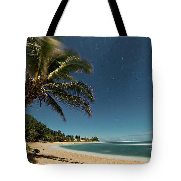 Hawaii Moonlit Beach Wainiha Kauai Hawaii Tote Bag
