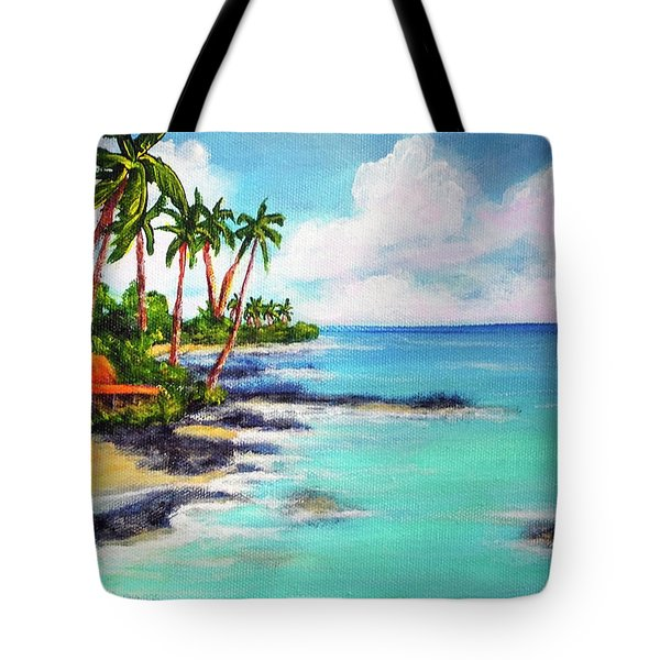 Hawaii North Shore Oahu #472 Tote Bag by Donald k Hall