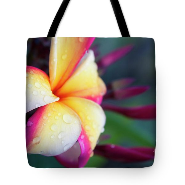 Tote Bag featuring the photograph Hawaii Plumeria Flower Jewels by Sharon Mau