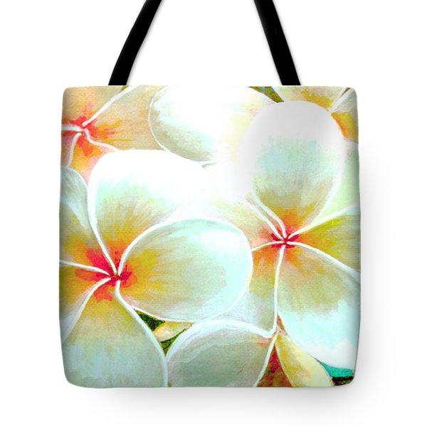 Hawaii Plumeria Frangipani Flowers #86 Tote Bag by Donald k Hall