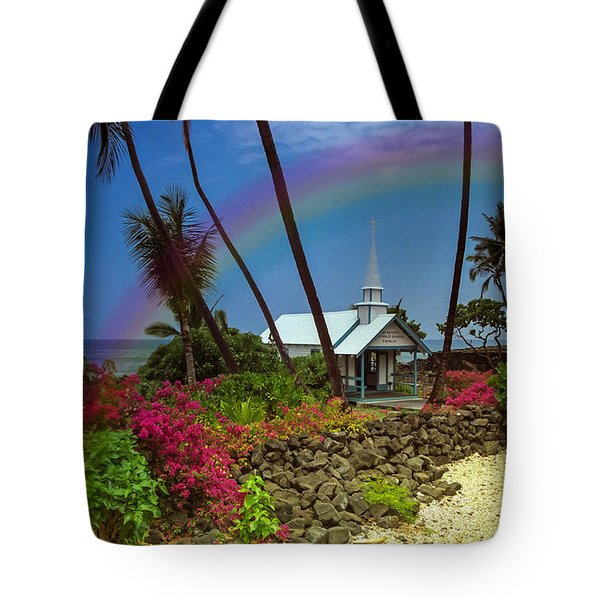Tote Bag featuring the photograph Hawaii Rainbow by Randy Sylvia