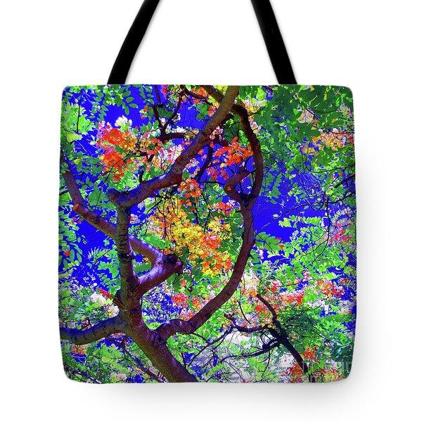 Hawaii Shower Tree Flowers Tote Bag