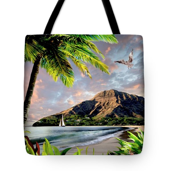 Hawaii Sunset Tote Bag by Ron Chambers