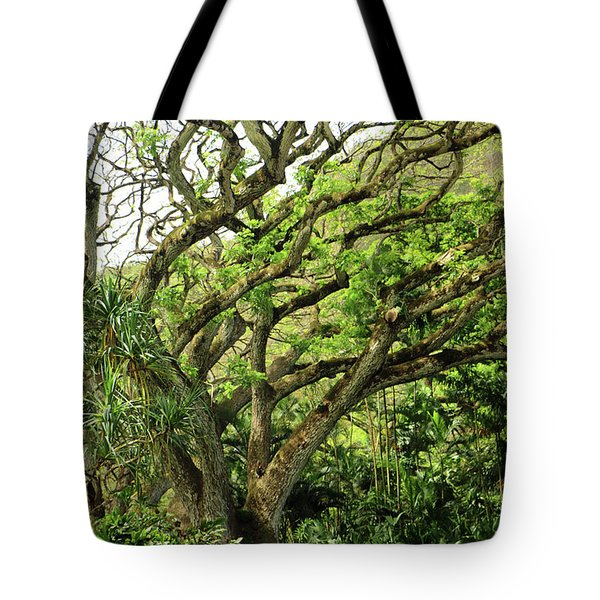 Hawaii Tree-bard Tote Bag by Denise Moore