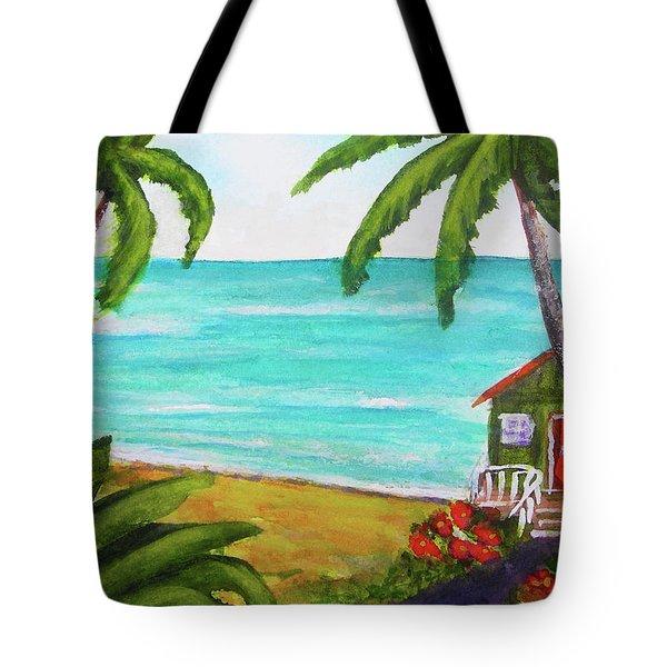 Hawaii Tropical Beach Art Prints Painting #418 Tote Bag by Donald k Hall