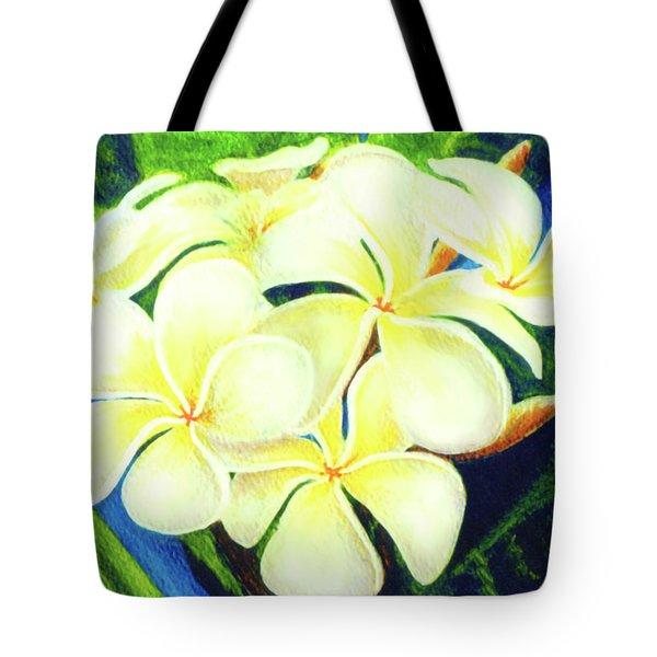 Hawaii Tropical Plumeria #158 Tote Bag by Donald k Hall