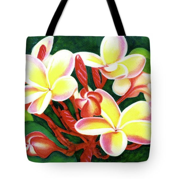 Hawaii Tropical Plumeria Flower #205 Tote Bag by Donald k Hall