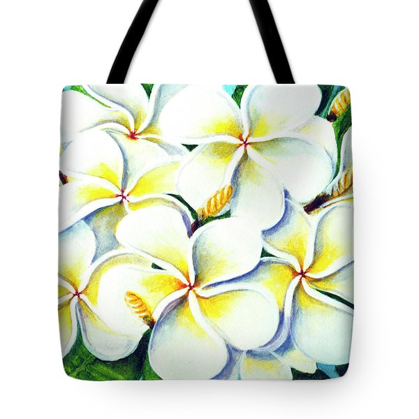 Hawaii Tropical Plumeria Flower #224 Tote Bag by Donald k Hall