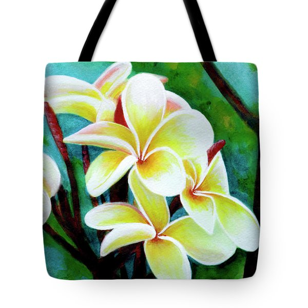 Hawaii Tropical Plumeria Flower #225 Tote Bag by Donald k Hall