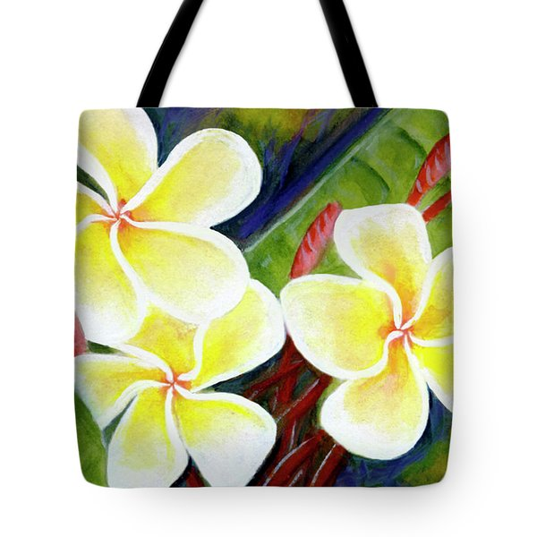 Hawaii Tropical Plumeria Flower #298, Tote Bag by Donald k Hall