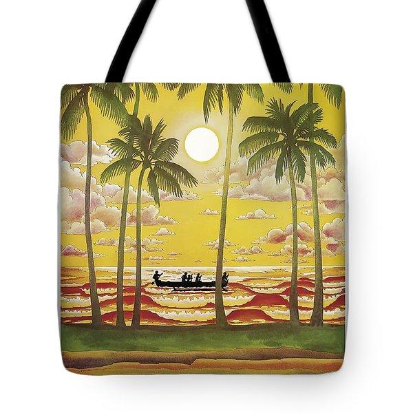 Hawaii Vintage Airline Travel Poster  Tote Bag